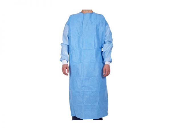 surgical gown with hook