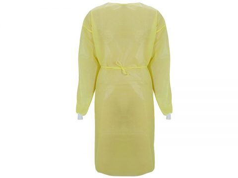 waterproof patient gown with knitted cuff