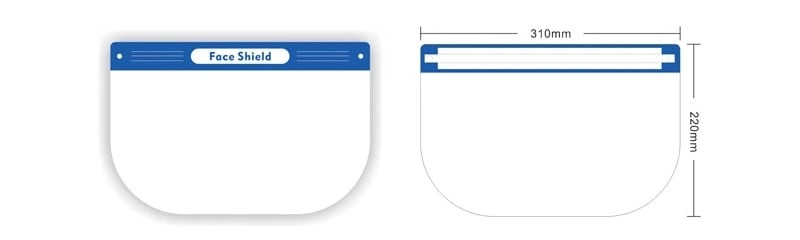 face shield size