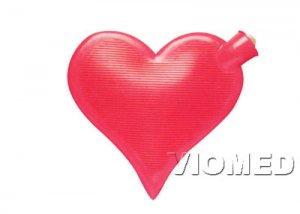 Hot water bottle heart shape