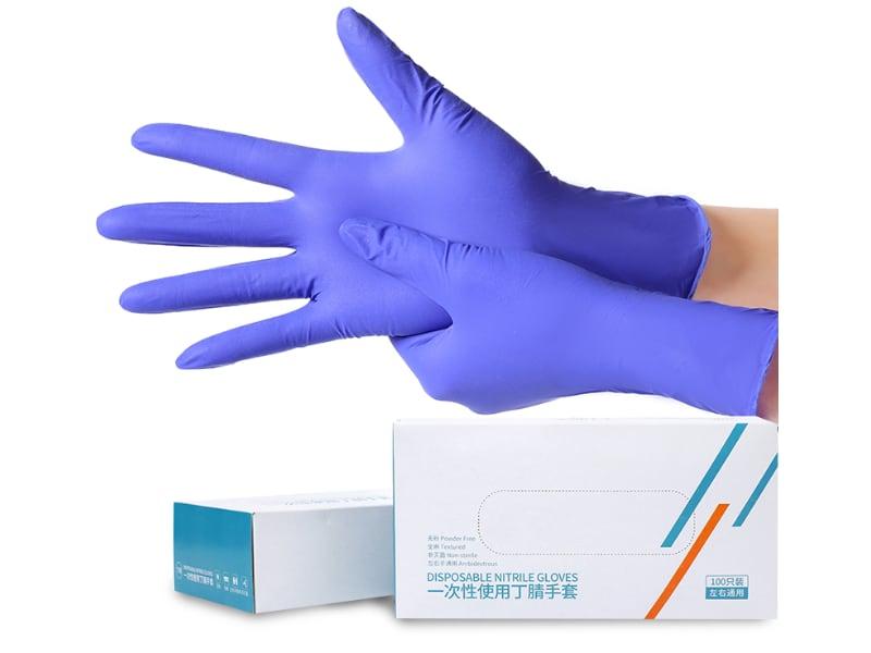nitrile gloves purple color