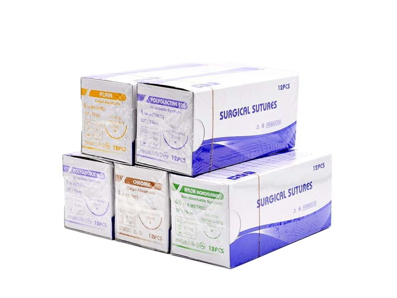 surgical sutures package