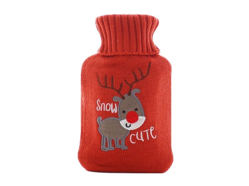 hot water bag with cover deer