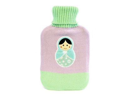 hot water bag with knitted cover